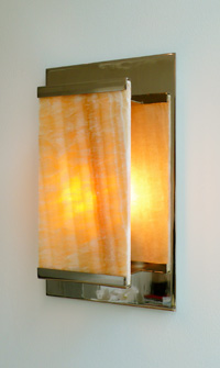 Honey Onyx Sconce