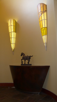 Ward's Entry - 5 foot tapered Sconces