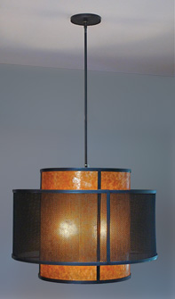 Mica and Mesh Pendant Lamp